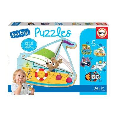 Wholesaler of Baby Puzzle Vehículos II 5x3/5pzs