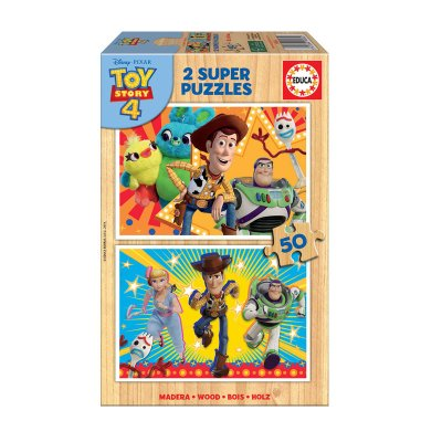Puzzles madera Toy Story 4 2x50pzs