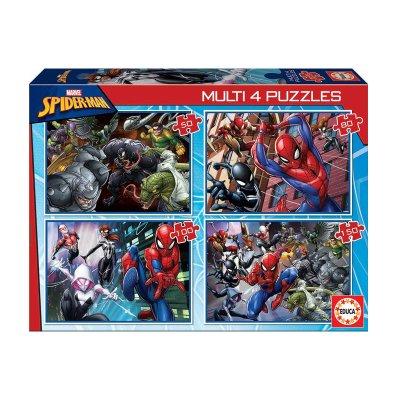 Multi 4 puzzles Spiderman Marvel 50 80 100 150pzs