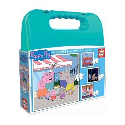 Wholesaler of Puzzles Maleta Progresivos Peppa Pig 6 9 12 16pzs