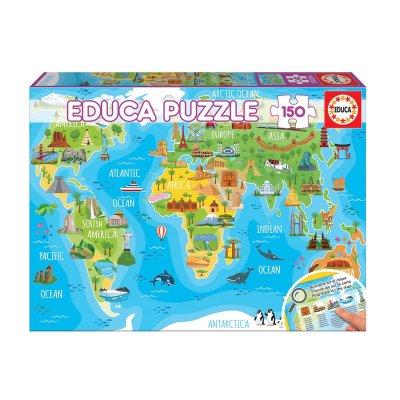 Puzzle Mapamundi Monumentos 150pzs