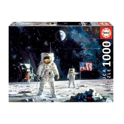 Wholesaler of Puzzle First man on the moon Robert McCall 1000pzs