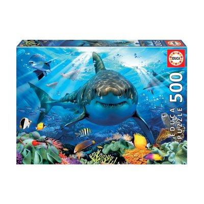 Puzzle Gran Tiburón Blanco 500pzs