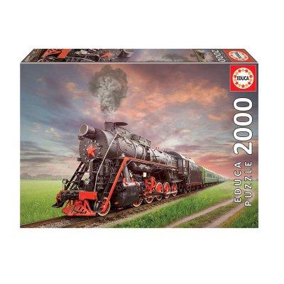 Puzzle Locomotora De Vapor 2000pzs