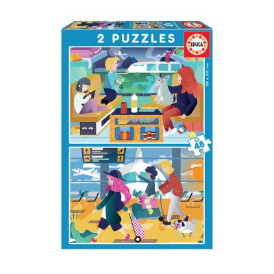 Wholesaler of Puzzles Aeropuerto y tren 2x48pzs