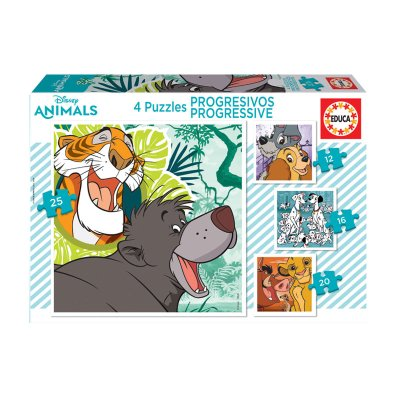 Wholesaler of Puzzles Progresivos Disney Animals II 12 16 20 25pzs