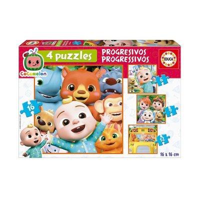 Puzzles Progresivos Cocomelon 6-9-12-16pzs