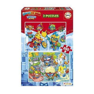 Puzzles Superthings 2x100pzs