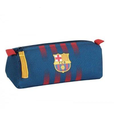 Estuche F.C Barcelona triangular en color azul marino