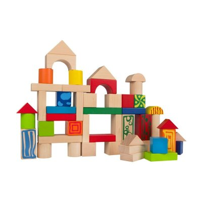 Wholesaler of Cubo 50 bloques de madera natural Play & Learn