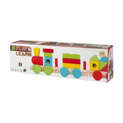 Juego Tren de madera colores Play & Learn