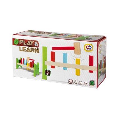 Banco madera c/martillo Play & Learn