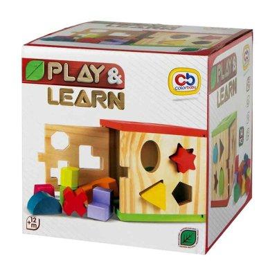 Cubo actividades madera Play & Learn