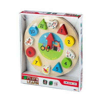 Relog puzzle madera Play & Learn