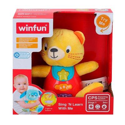 Peluche gato musical con luz WinFun