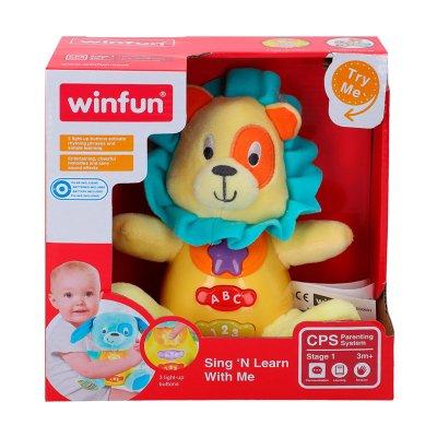 Peluche león musical con luz WinFun
