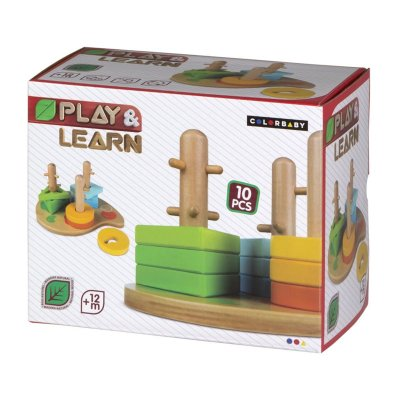 Juego encaje formas madera Play & Learn