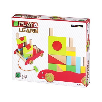 Carrito bloques madera Play & Learn