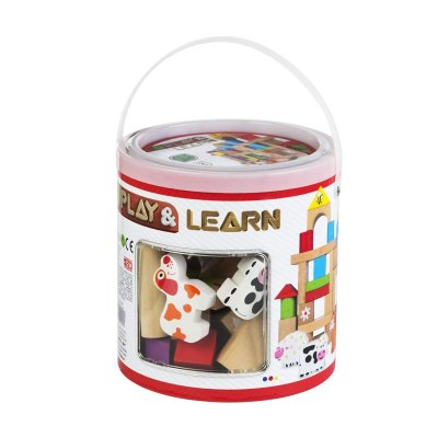 Juego Cubo bloques y figuras 50pzs Play & Learn