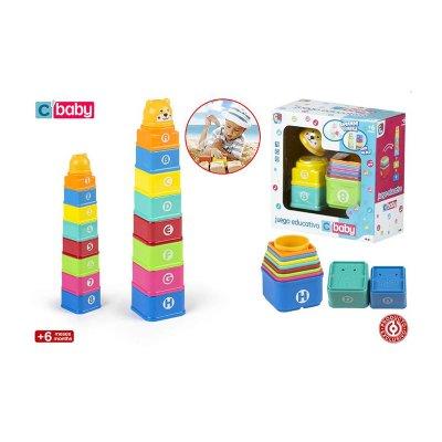 Set torre cubos bebé 9pzs CBaby