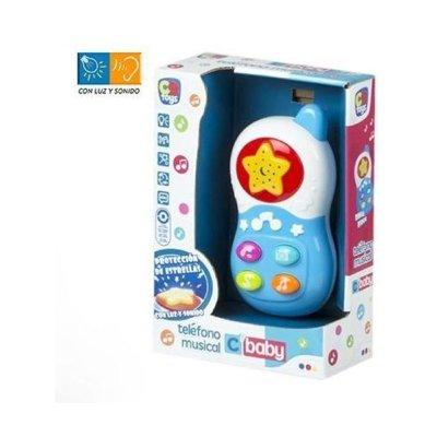 Teléfono musical infantil CBaby - azul