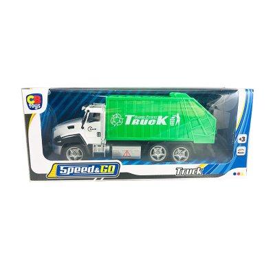Miniatura vehículo camión de basura Speed & Go
