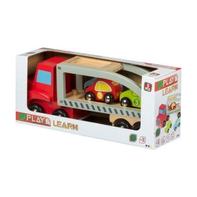 Wholesaler of Camión remolque de madera y 3 coches Play & Learn