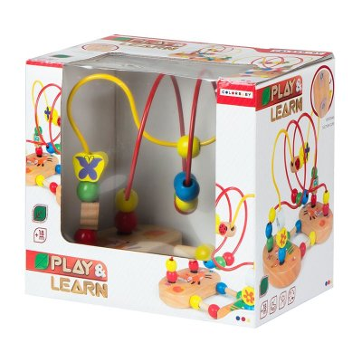 Laberinto figuras madera y ventosa Play & Learn