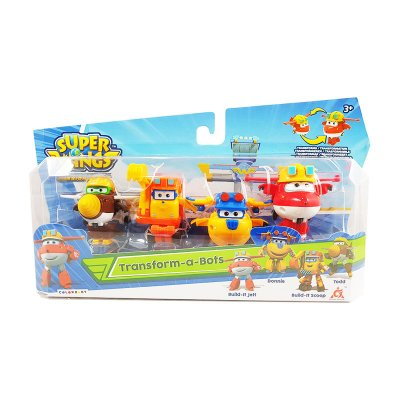 Pack 4 Figuras Super Wings Transform a Bots - surtido 3