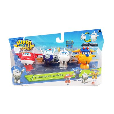 Pack 4 Figuras Super Wings Transform a Bots - surtido 4