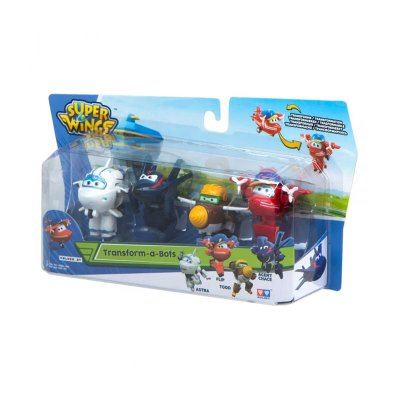 Pack 4 Figuras Super Wings Transform a Bots - surtido 2