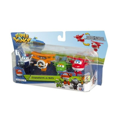 Pack 4 Figuras Super Wings Transform a Bots - surtido 1