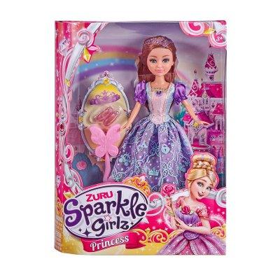Muñeca Princess Sparkle Girlz - violeta