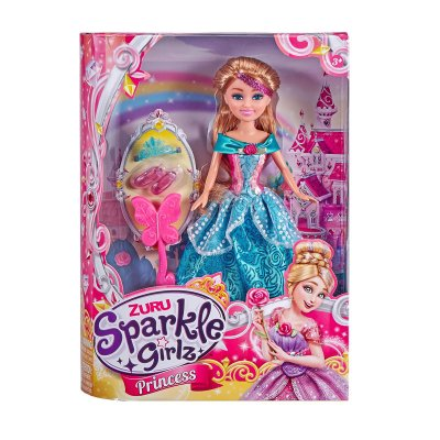Muñeca Princess Sparkle Girlz - azul