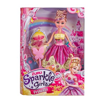 Muñeca Princess Sparkle Girlz - rosa
