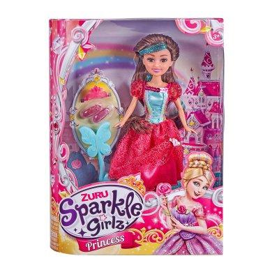 Muñeca Princess Sparkle Girlz - rojo