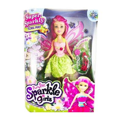 Muñeca Hada Floral Fairy Magenta Sparkle Girlz
