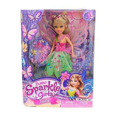 Muñeca Fairy Sparkle Girlz - verde