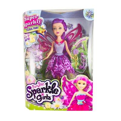Muñeca Hada Floral Fairy Violeta Sparkle Girlz