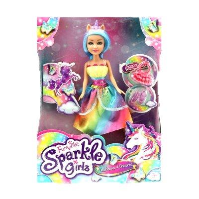 Muñeca Rainbows & Unicorns Sparkle Girlz - Lolly