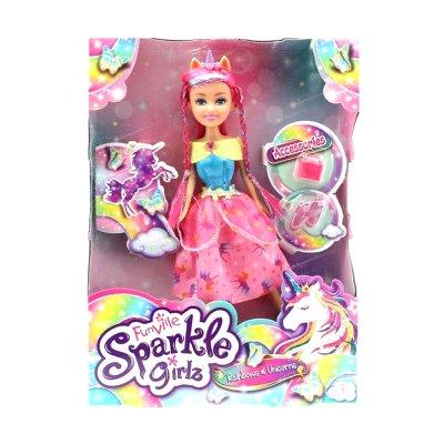Muñeca Rainbows & Unicorns Sparkle Girlz - Sugar