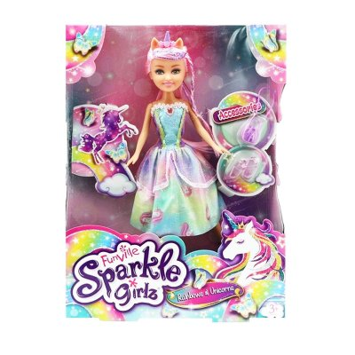 Muñeca Rainbows & Unicorns Sparkle Girlz - Sprinkles