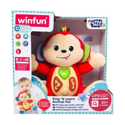 Peluche mono musical con luz WinFun