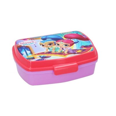 Sandwichera rectangular Shimmer & Shine - rosa