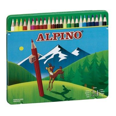 Lápices Alpino 24 colores en caja metálica