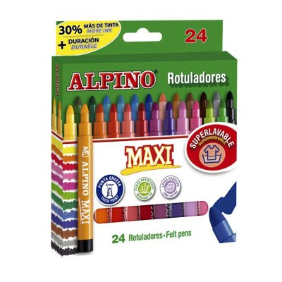 Wholesaler of Rotuladores Maxi Alpino 24 colores 6mm