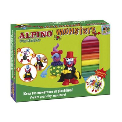 Kit de plastilina Monsters Alpino