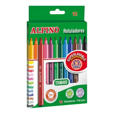 Wholesaler of Rotuladores Standard Alpino 12 colores 2.8mm