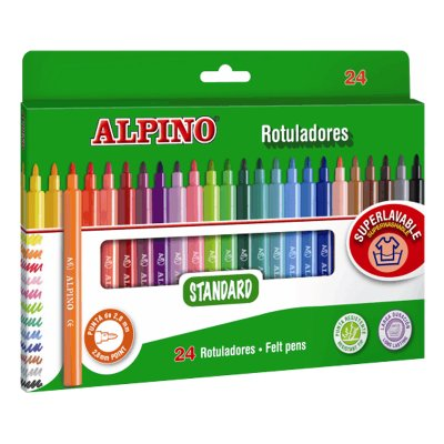 Distribuidor mayorista de Rotuladores Standard Alpino 24 colores 2.8mm