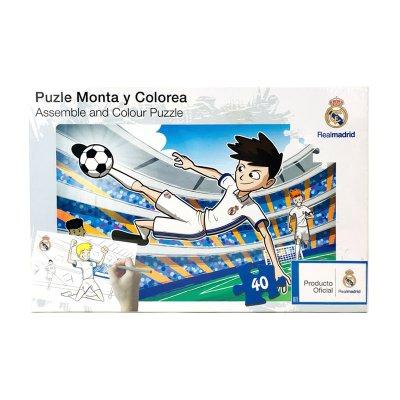 Puzzle colorear Real Madrid FC 40pzs - modelo 2